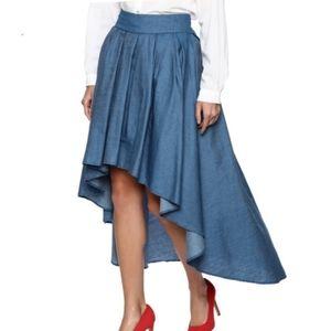 Soho Jeans Maxi Hi-Low Dark Denim Skirt Size XXL